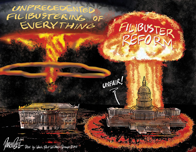 "Senate Democrats Invoke the ""Nuclear Option"" to End Republican Filibuster Abuse"
