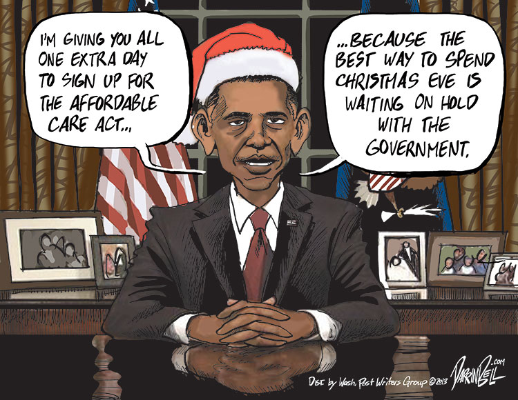 President Obama Extends the Obamacare Deadline to Midnight Christmas Eve