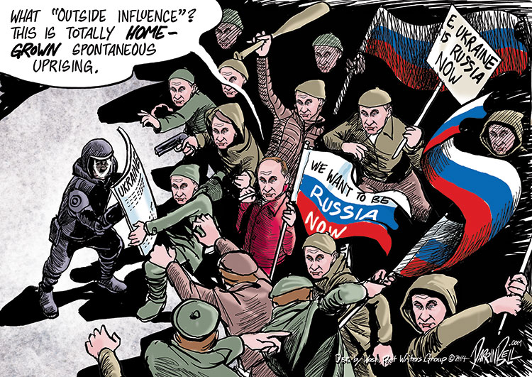 Eastern Ukraine's Totally Homegrown Pro-Russian Demonstrations