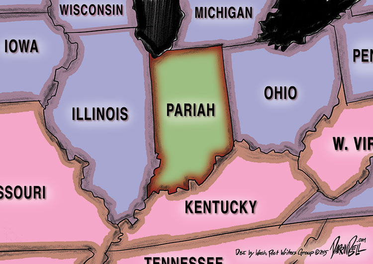 """States Ban Official Travel to Indiana Over It's Discriminatory """"Religious Freedom Restoration Act"""""""