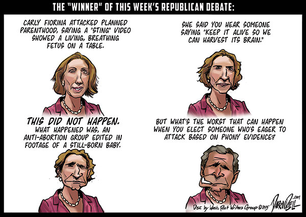Carly Fiorina and her Big Fat Lie