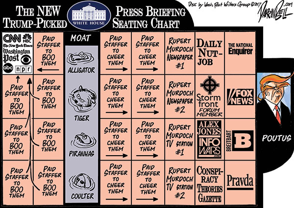 The Trump White House Press Briefing Seating Chart