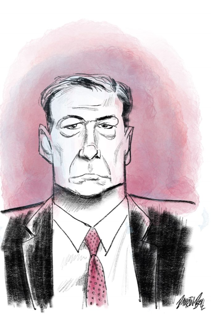 James Comey caricature