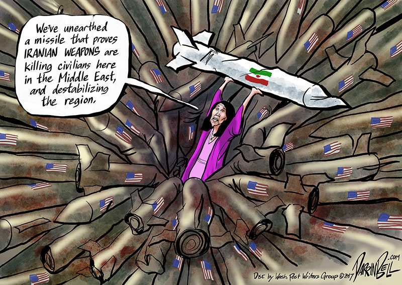 Nikki Haley Produces an Iranian Missile as Proof of Something